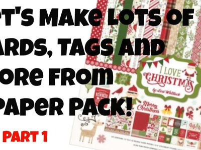 Cards, Tags and More from 1 Paper Pack Super Quick and Easy