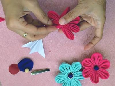 Copy of Kanzashi fabric flower