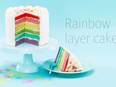 DIY by Panduro - Easy Rainbow Layer Cake