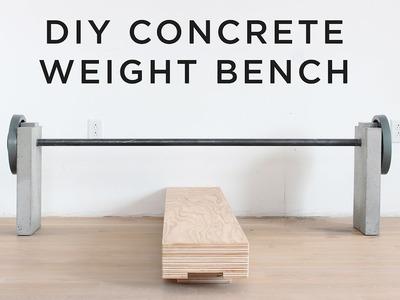 DIY Concrete Weight Bench