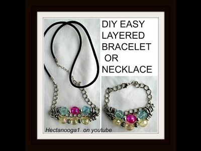 DIY LAYERED BRACELET OR NECKLACE, Jewelry making, gift idea, wire jewelry,