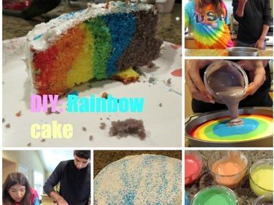 DIY: Rainbow cake
