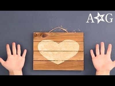 DIY Room Decor - Glitter Heart Craft | American Girl