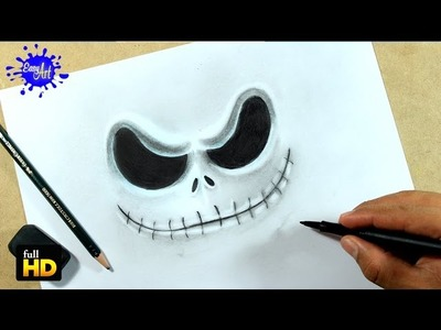 DRAWING FACE JACK SKELLINGTON. How to draw Jack skellington