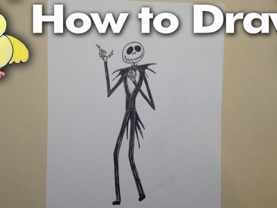 Drawing: How to Draw Jack Skellington the Pumpkin King (Nightmare Before Christmas)