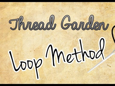 FlossTube #9.Cross Stitch Tutorial.Loop Method for Starting a Thread