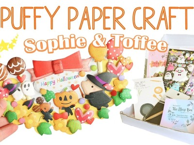 Halloween Puffy Paper Craft│Sophie & Toffee Subscription Box September 2016