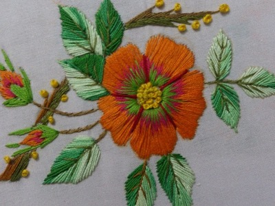 Hand embroidery stitches tutorial. Embroidery design for dresses.