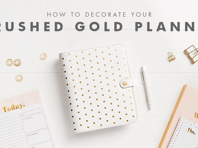 How to Get Organised with your Brushed Gold kikki.K Planner
