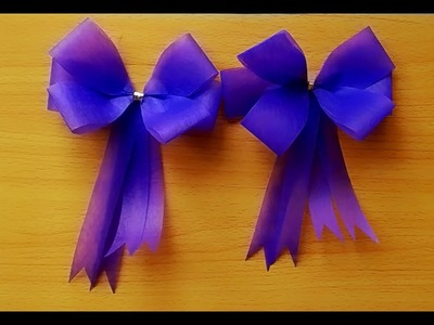 How To Make A Simple Bow With Ribbon -  Craft Tutorial