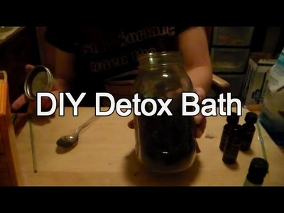 How to Make an Activated Charcoal Detoxifying Bath Salt