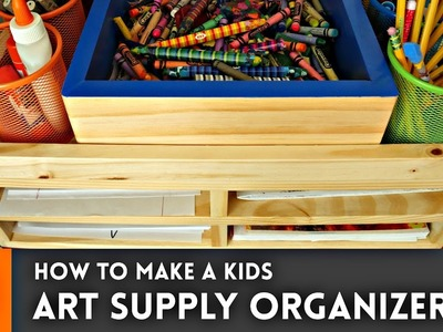 How to make an art supply organizer. Woodworking