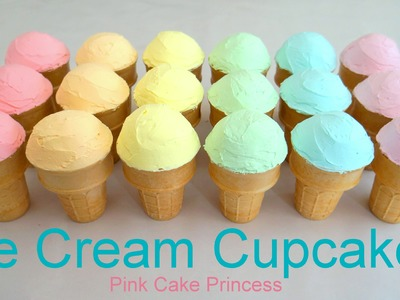 How to Make Ice Cream Cupcakes & Rainbow Cupcakes with Green's Cake Mix & Rich N Smooth Topping