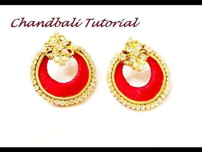 How to make Silk thread Chandbali Earring - Tutorial Easy DIY Craft