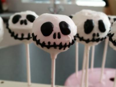 Jack Skellington Cake Pops for Halloween