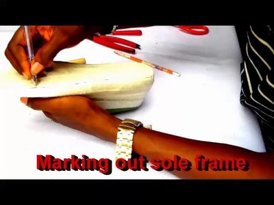Making  your own moccasin part 1 DIY