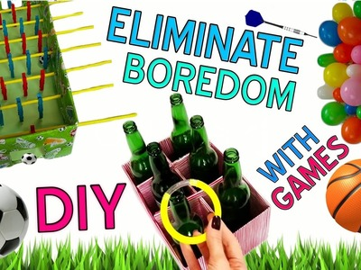 5 DIY ways HOW TO overcome boredom  |  awesome home games