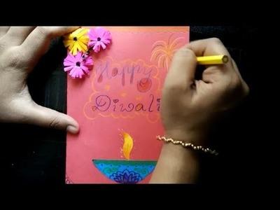 Diwali greeting card DIY Very very easy tutorial