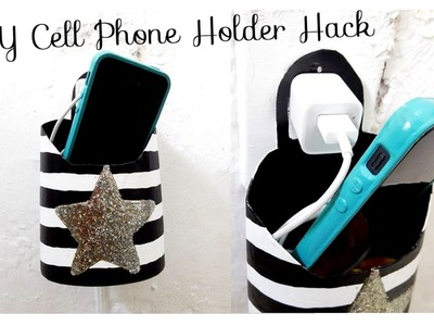DIY Cell Phone Holder Hack || DIY Charging Station Life Hack