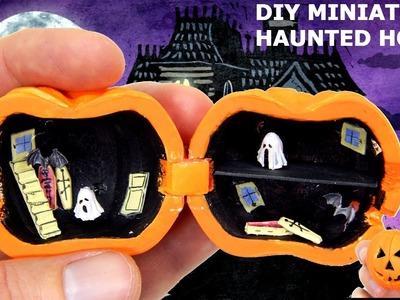 Diy dollhouse miniatures haunted house