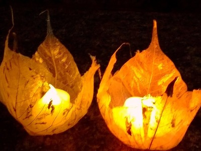 Diy Festive Party Decor Leaf Vein Votive. Holder