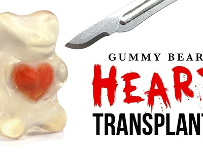 DIY Gummy Bear HEART Transplant! ASMR Halloween!