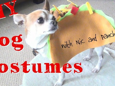 DIY Halloween Dog Costumes! ♥  Nic and Pancho Collaboration