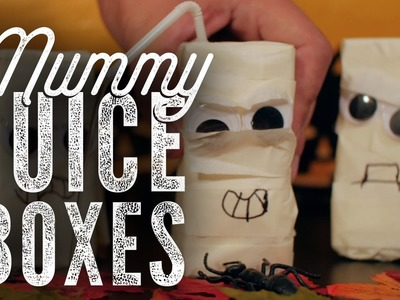 DIY Halloween - Mummy Juice Boxes