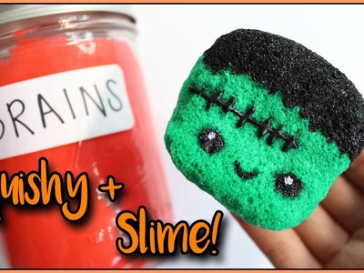 DIY Jar of Brain Slime + Frankenstein Squishy | RxchelVids
