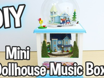 DIY Miniature Dollhouse Music Box Kit that Spins and has Working Lights! Cute!. Relaxing Craft