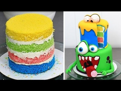 DIY MONSTERS Cake  - Kids Cake Idea by CakesStepbyStep