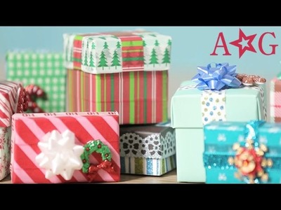 DIY Washi Tape Gift Box Doll Craft | American Girl