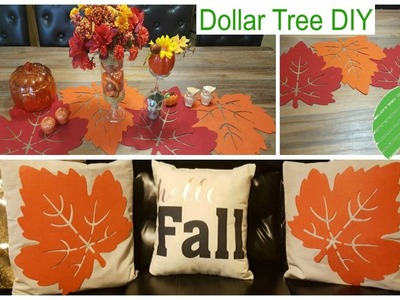 DOLLAR TREE FALL DIY | Pillow Covers & Table Runner Home Decor