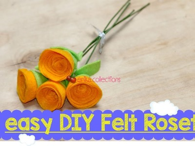 Easy DIY Felt Roset Flower tutorial