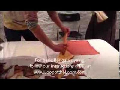 How to Bengala Dye: Itajime Shibori 2