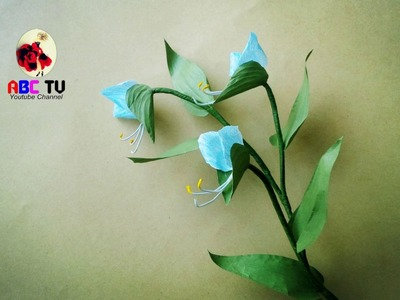 How To Make  Commelina Flower From Twisted Paper Rope - Craft Tutorial