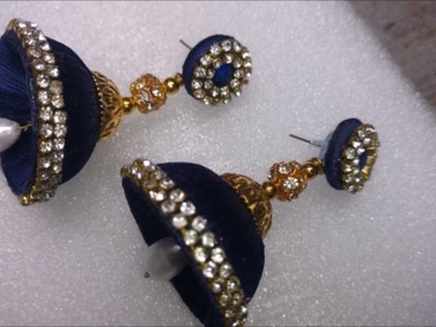 How to make silk thread jhumkas | DIY silk thread earrings, silk thread earrings making tutorial DIY