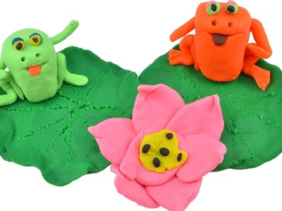 Play Doh Stop Motion DIY How To Make Frogs For Kids With Play Dough