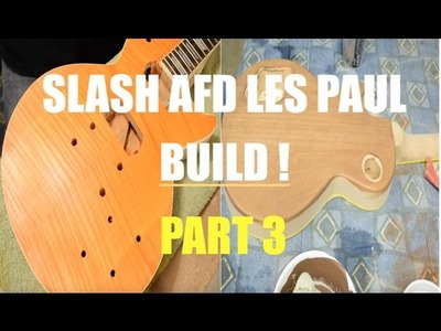 Slash AFD DIY Les Paul Kit - (Part 3: Headstock Veneer.Grain Filling)