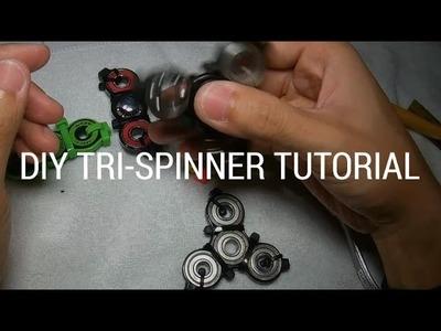 $1 ZIP TIE. CABLE TIE SPINNER TOY DIY TUTORIAL - TRI-SPINNER (NOT 3D Printed!)