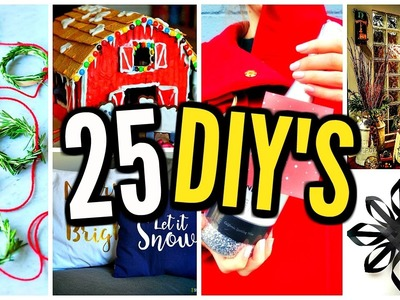 25 DIY PROJECTS YOU NEED TO TRY BEFORE CHRISTMAS! DIY Gift Ideas, Room Decor, Crafts