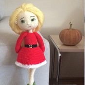 Christmas Girl Amigurumi Crochet Pdf Pattern