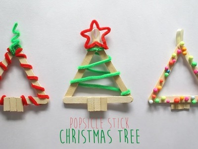 DIY : Christmas Tree (Popsicle Stick)