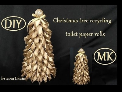 DIY.Christmas tutorial.How to.Christmas tree recycling toilet paper rolls: bricoart.kam