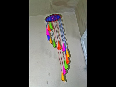 DIY Decorative Wall Hanging with Cardboard & Color Paper - Wind Chime - Tutorial