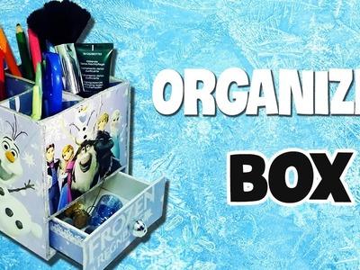 DIY Disney Frozen Organizer Box   Cute & Cheap DIY Christmas Gift   ANNA & ELSA ROOM DECOR