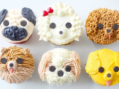 DIY DOG CUPCAKES - Pug, Pomeranian, Golden Retriever, Shih Tzu, Labradoodle & Poodle | RECIPE