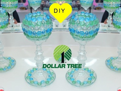 DIY DOLLAR TREE   ❤  MOSIAC GLASS GOBLET CANDLE HOLDERS   ❤  ROOM DECOR
