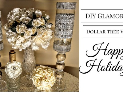 DIY Glamorous Dollar Tree Vases for 2016 Holidays (Part 2 Viewers Request)