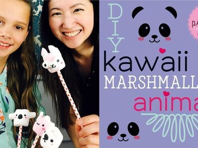 DIY! KAWAII MARSHMALLOW ANIMALS | Collaboration Pink Pie Factory with Maqaroon | Lara-Marie & Joanna